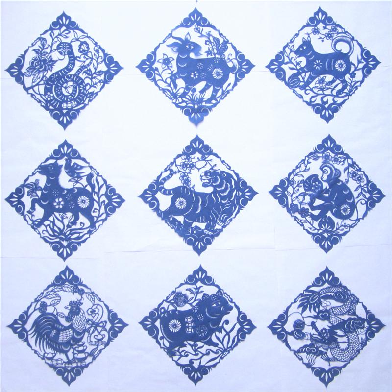 菱形剪纸步骤图片
