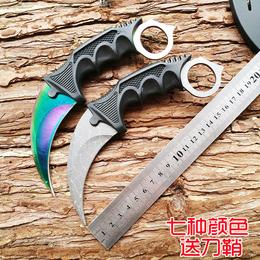 战狼2同款鹰爪子刀户外求生爪刀高硬度军刀野外直刀短刀非折叠刀