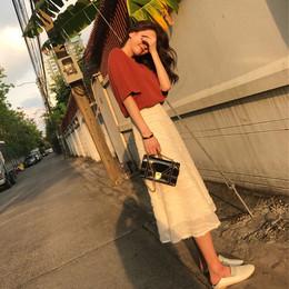冷淡风连衣裙女夏2018新款极简超仙学生两件套女小清新套装长裙子