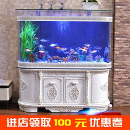 金鱼缸水族箱欧式玻璃生态客厅带柜造景大型底滤免换水1.2/1.5米