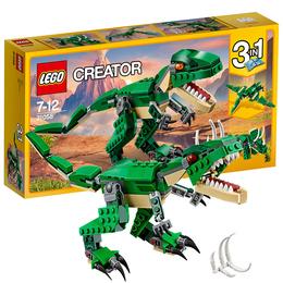 乐高创意百变系列儿童男孩益智拼装积木玩具恐龙凶猛霸王龙31058