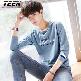 2018春季新款男士长袖t恤 学生韩版秋衣服男装青少年潮流体恤上衣