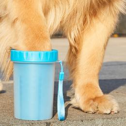 宠物洗脚杯狗狗洗脚神器大小型犬洗脚杯泰迪金毛洗爪狗狗清洁神器