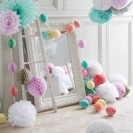 8cm蜂窝球纸花球生日派对纸拉花六一儿童节活动商场橱窗布置装饰