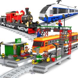 兼容乐高奥斯尼积木拼装火车玩具轨道城市系列益智拼插男孩6-10岁