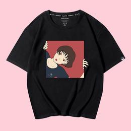 2018新款t恤女短袖宽松大码学生韩版潮百搭上衣半袖体恤夏季bf风