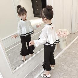 童装女童春装洋气套装中大童2018新款儿童纯棉两件套时尚宝宝潮衣