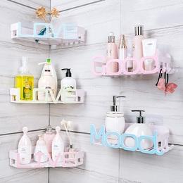 卫生间置物架浴室洗漱台厕所洗手间吸盘收纳架子壁挂免打孔吸壁式