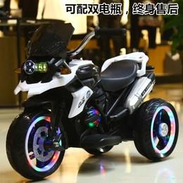 儿童电动摩托车小孩三轮车2-3-4-5-8岁大号宝宝遥控玩具车可坐人