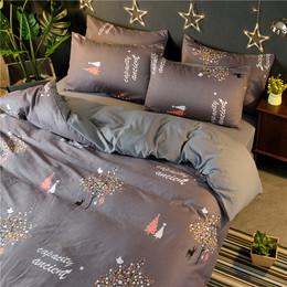 特价简约全棉四件套1.8m水洗棉床单双人纯棉床上用品被套三件套
