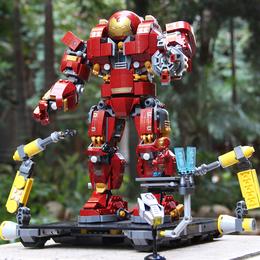 兼容乐高复仇者联盟3钢铁侠反浩克机甲男孩拼装积木玩具模型装甲