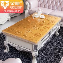 欧式pvc软玻璃茶几桌布防水防油餐桌垫印花塑料台布长方形水晶板