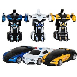 撞击变形ABS和高档合金车模型精品珍藏版布加迪威龙变形汽车