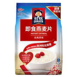 桂格即食燕麦片袋装1478g全谷物原味冲饮早餐