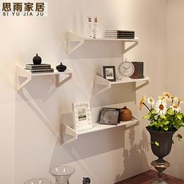 墙上置物架免打孔 卧室装饰简易花架壁挂客厅书架电视墙一字搁板