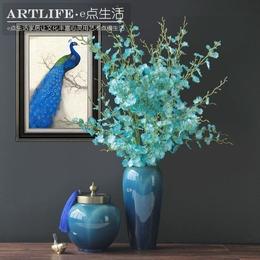 欧式新古典后现代新中式客厅家居饰品陶瓷摆件玄关酒柜花瓶装饰品