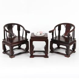 红木工艺品装饰摆件微缩模型家具实木雕刻红酸枝大皇宫椅微型椅子