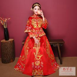 秀禾服2018新款结婚敬酒服新娘礼服中式婚纱古装嫁衣秀和服绣禾服