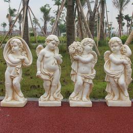 欧式人物雕塑装饰酒店家居装饰品婚庆工艺品摆设天使雕像花园摆件