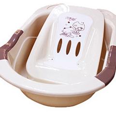 日康浴盆 婴儿浴盆洗澡盆大号送浴板 宝宝洗澡沐浴盆吉米RK3626