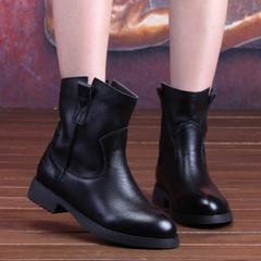 四起哥2015手工真皮特色女靴子头层牛皮短靴女休闲马丁靴