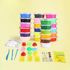 珍珠泥超轻粘土雪花泥24色 彩泥套装橡皮泥儿童玩具太空软陶无毒