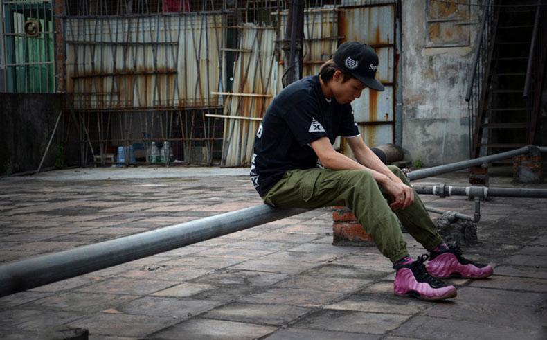 2014新品 原创潮牌双口袋布裤 3M反光男装束脚裤 缩脚修身休闲裤