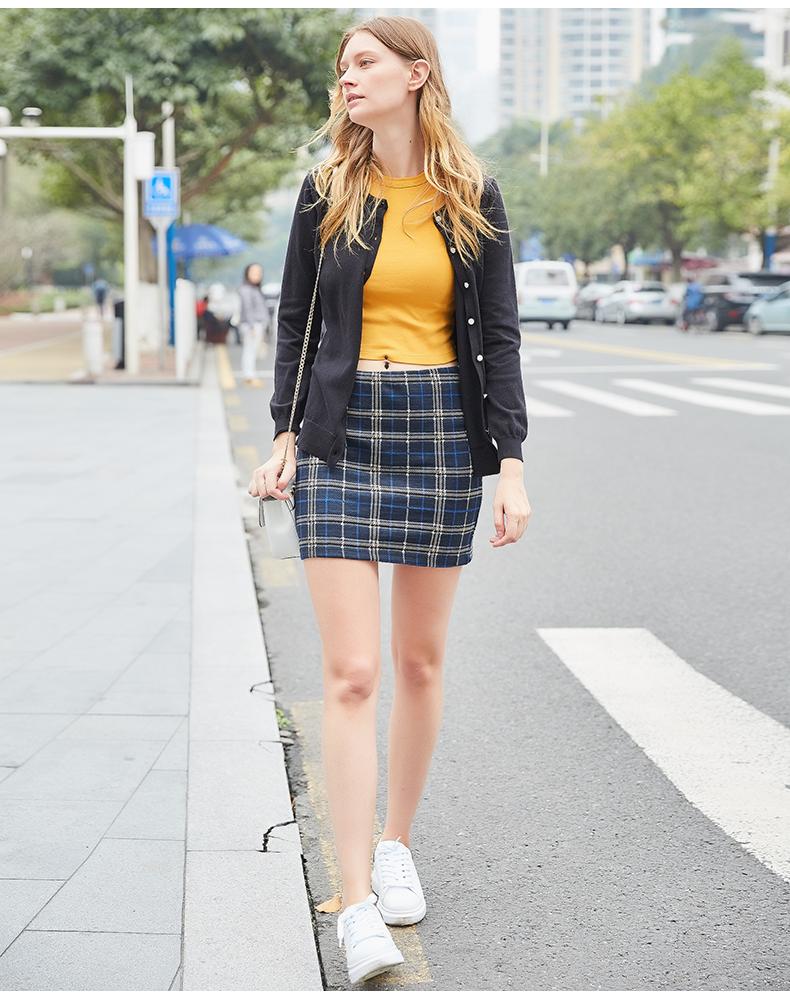 欧洲站OK春季短外套女修身显瘦短款针织开衫圆领百搭毛衣针织衫