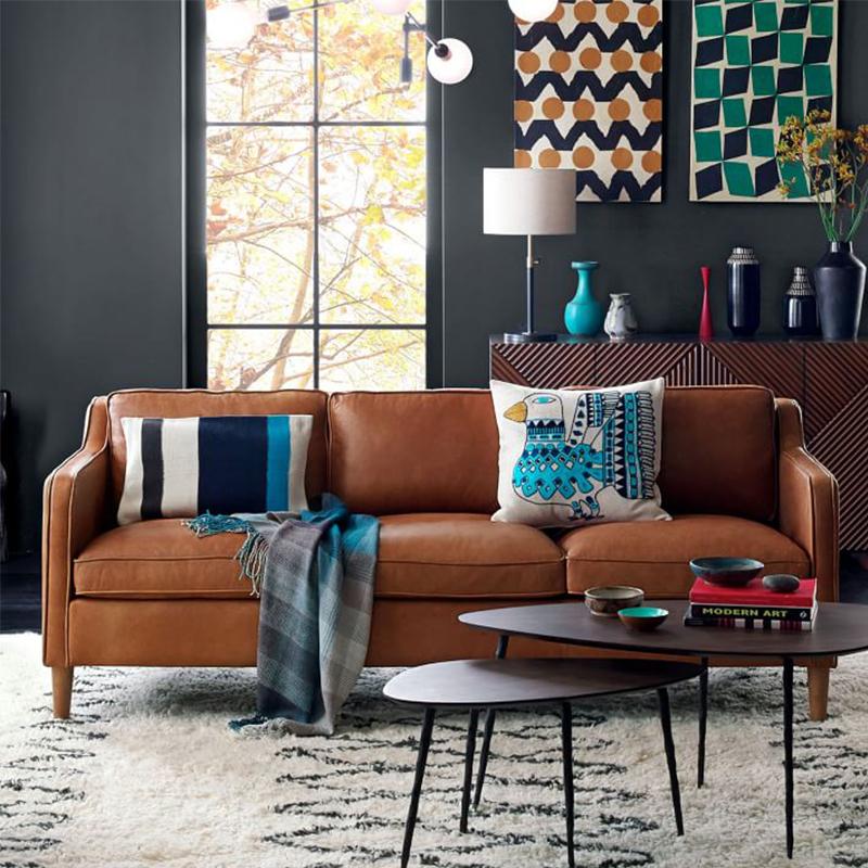 真皮沙发头层牛皮北欧简约美式组合沙发客厅家具大中户型转角沙发