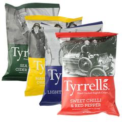 包邮 英国进口泰瑞薯片40gX4袋组合多口味膨化零食品