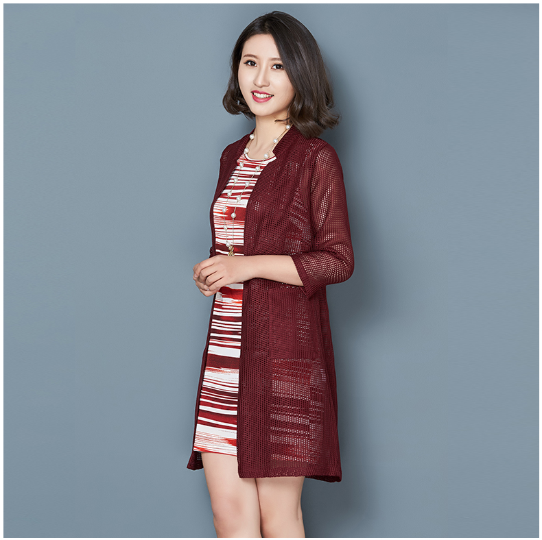 2016春装新款女装套装裙两件套韩版七分袖中长款大码蕾丝连衣裙女