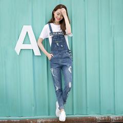 韩版宽松修身显瘦牛仔裤