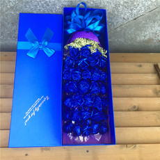蓝色妖姬礼盒北京鲜花速递蓝玫瑰花束生日苏州鲜花店同城上海全国