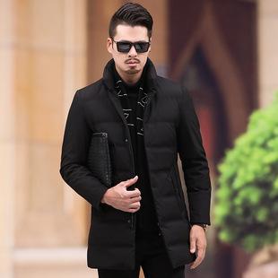 冬季新款羽绒服男加厚男式中长款休闲羽绒服中青年男羽绒保暖外套