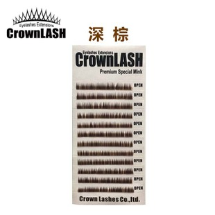 CrownLASH进口皇冠下睫毛深黑咖啡金棕嫁接彩色J 0.15 456mm时尚