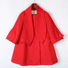 【特价】高端尖货● 2017冬装圆领九分袖羊毛呢子大衣女 S+Z43