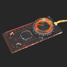 多功能地图尺指南针 指北针 透明板定向运动/穿越 指北针