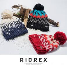 美国RIOREX毛线帽子女冬针织帽潮牌羊毛帽子加绒加厚保暖冷帽女式