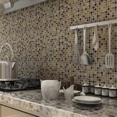 水晶玻璃冰裂马赛克 背景墙贴瓷砖客厅玄关厨房卫生间咖啡色 特价