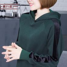 秋装套头连帽加绒卫衣2019新款女装长袖韩版宽松打底衫外穿上衣