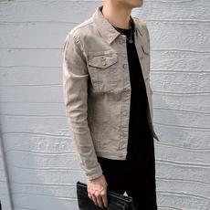 快手网红同款秋装牛仔外套男士韩版潮流上衣社会小伙青年修身夹克