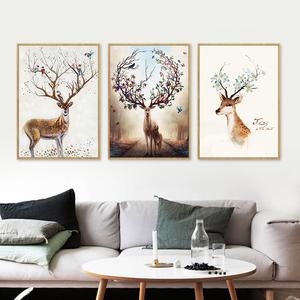 客厅装饰画简约现代北欧风格三联挂画卧室墙面壁画沙发背景墙