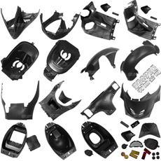 摩托车 巧格福喜100 125cc福喜巧格黑胶件PP件拉花外壳踏板车配件