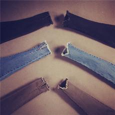 韩版秋冬紧身弹力百搭小脚牛仔裤女显瘦高腰铅笔裤九分裤黑色裤子