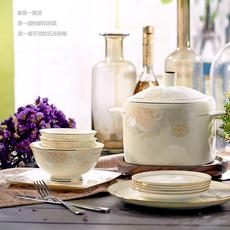 远业-骨瓷餐具套装景德镇陶瓷 28/56头碗盘碟勺套装高档欧式礼品
