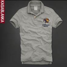 新款 t恤翻领POLO衫 保罗大码 af男士 印第安夏装 短袖 纯色休闲男装