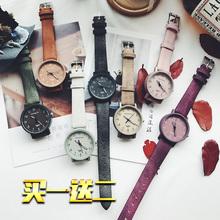 手表男女韩版 森系潮流学生小清新皮带简约文艺情侣表一对ulzzang