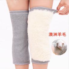 羊毛羊绒保暖护膝老寒腿冬季男女士老人膝盖关节护腿骑车外穿粘扣