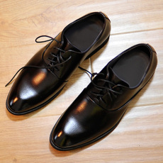 新款隐形内增高男鞋6cm男士商务正装德比鞋英伦牛皮结婚礼真皮鞋