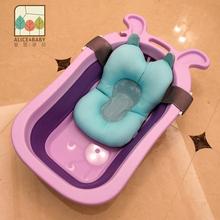 婴儿折叠浴盆宝宝洗澡盆加大号儿童浴桶小孩可坐躺通用新生儿用品